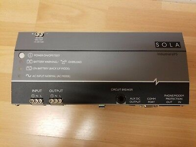SOLA POWER SUPPLY SDU 500 120Vac 500VA/300W SDU500 Good Shape