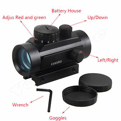 Tactical Holographic Reflex 5 MOA Green Red Illuminated Dot Sight Scope Hunting