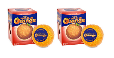 904172 2 x 157g BOXES TERRY'S DARK CHOCOLATE ORANGE MADE WITH REAL ORANGE OIL UK