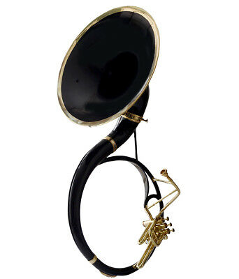 GIFT FOR FATHER SOUSAPHONE SMALL Bb PITCH BLACK + BRASS W/ FREE BAG+MP+SHIP