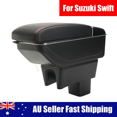 Leather Car Center Console Armrests Storage Box For Suzuki Swift 2008~2016 2017