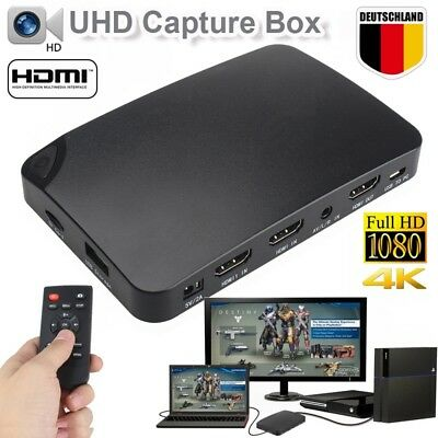 4K UHD PVR Video Capture HDMI Recorder Box für TV Film AV Blu-ray DVD livestream