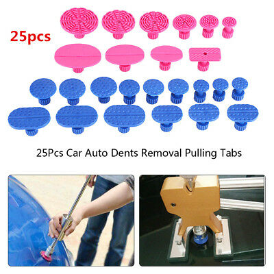 Car Body Hail Glue Puller Tabs Pulling PDR Paintless Dent Repair Removal Tool JS