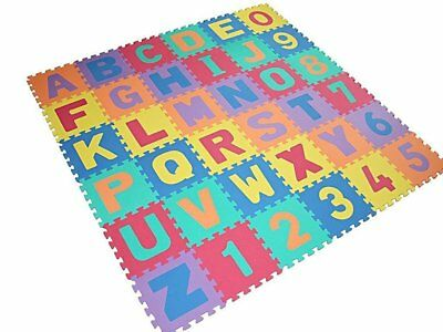 New Large Size 40 Pc Foam Alphabet Children Soft Jigsaw Puzzle Play Learning Mat
