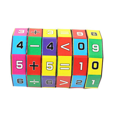 Children Kids Mathematics Numbers Magic Cube Educational Toy Puzzle Game Gift