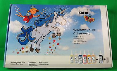 Window Color Glitzer Welt Set Kreul Glas Design Fensterbilder
