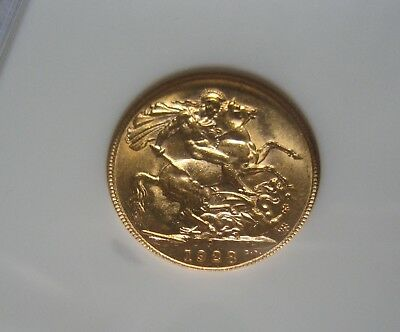 GREAT AUCTION start 1 $ GOLD AUSTRALIA GEORGE V SOVEREIGN 1928 Perth  NGC OR