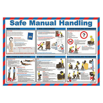 Safe Manual Handling Poster 420x590mm WC245
