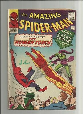 The Amazing Spider-Man Comic Book #17, Marvel 1964, 2nd App of Green Goblin