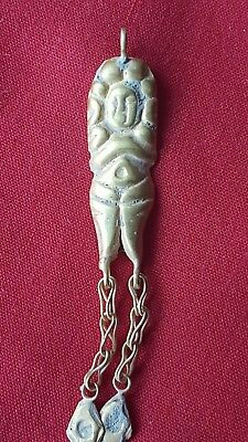 Stunning Ancient Roman Gold Amulet With Gold Chains