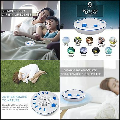 BEST White Noise Machine Sleep Conditioner 9 Natural Sound Baby Sleeping Therapy