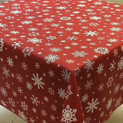 CHRISTMAS OCCASIONS REINDEER TABLE CLOTHS RED WHITE ZIG ZAG DEER STAG PARTY