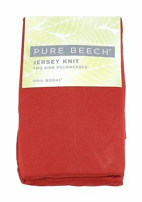 Pure Beech Two King Jersey 100%-Modal Knit Pillowcases, Ruby