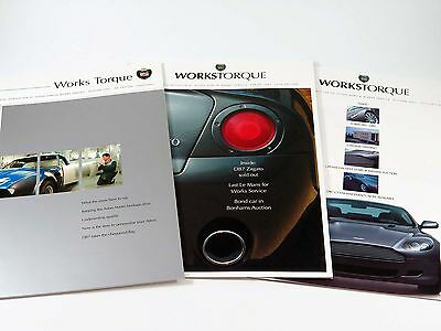 Official Aston Martin Magazine Newsletter Brochure - Works Torque - Set of 3