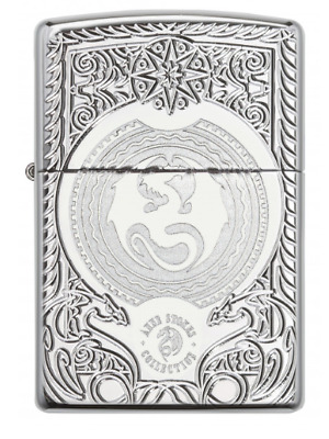 NEW Zippo Anne Stokes Armor Windproof Lighter High Polished Chrome - 28962
