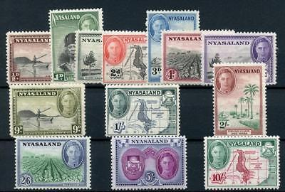 Nyasaland 1945 short set to 10s SG144/56 MM