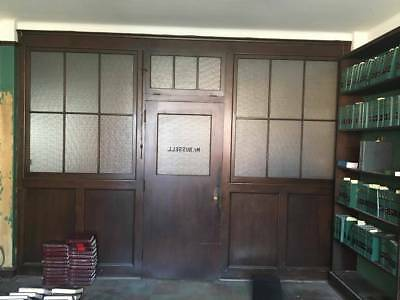 Antique Wood & Glass Built In Partition Office 1928 Rosalyn Russell