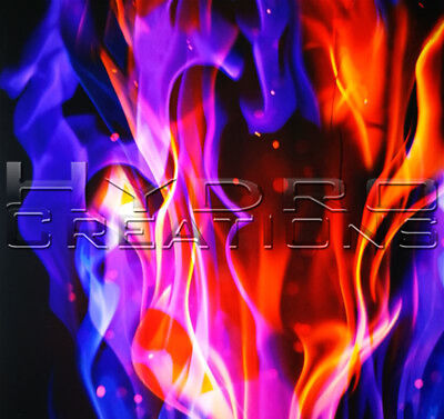 "HYDROGRAPHIC FILM HYDRO DIPPING WATER TRANSFER FILM MAJESTIC FLAMES 19"" x 38.5"""