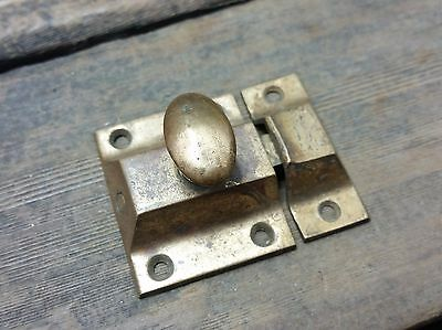 VTG Old Antique RUSTIC Cast BRASS Hoosier Cabinet Cupboard Pull Knob Latch