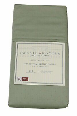 Palais Royale 100%-Egyptian Cotton Sateen (630 ct.) King Pillowcases, Dot/Sage