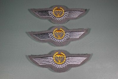 Post WW2 German FJ Fallschirmjager Luftwaffe Air Force Gold Jump Wings. 3 F45