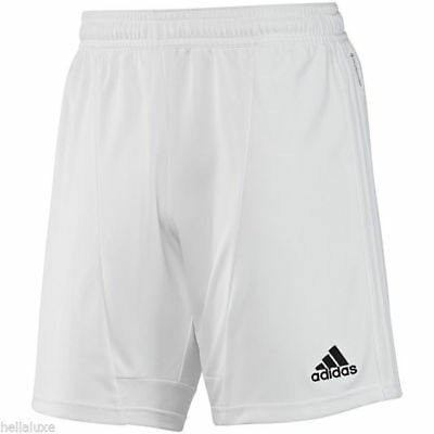 adidas Men's Condivo 12 Soccer Shorts White Athletic Running Shorts Inseam 8""