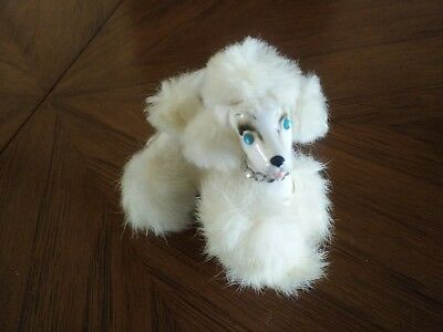 "Vintage Kreiss and Co. 3"" White Furry Poodle, Japan, Preowned"