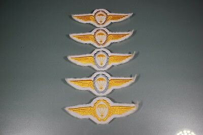 Post WW2 German FJ Fallschirmjager Kriegsmarine Lot of 5 Jump Wings Patch F48