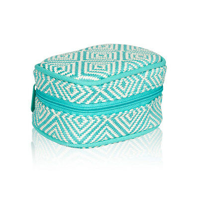 THIRTYONE Thirty One 31 Gifts Cute Case BRAND NEW Turquoise Graphic Weave