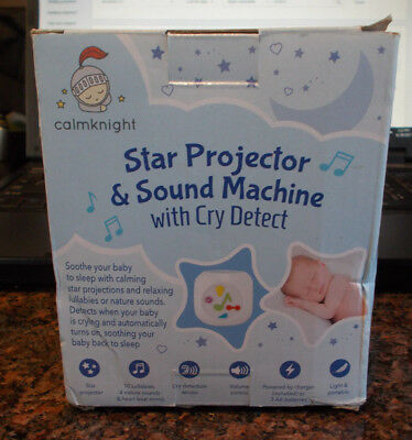 Baby Sound Machine Projector, Cry Detect, White Noise Soother, Toddler/Child