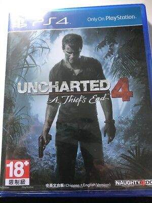 Uncharted 4 A Thief's End Sony Playstation 4 game