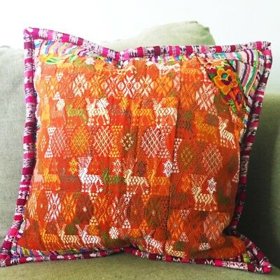 HANDWOVEN PILLOW COVER Guatemalan One Of A Kind Autumn Colors Interesting Guatemalan Pillow Covers
