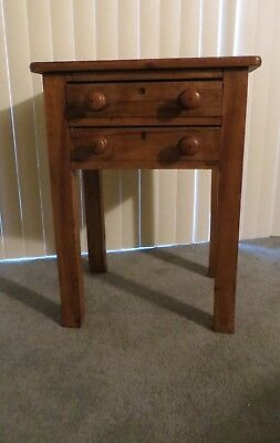 Antique Scrubbed Pine Danish Side Table