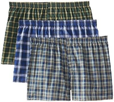 Fruit of the Loom Men's Tartan Boxer Shorts in Famous Brand Packaging Small - 5X