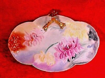 Antique William Guerin Limoges Hand Painted Tray c.1900+ Signed by Artist, L173