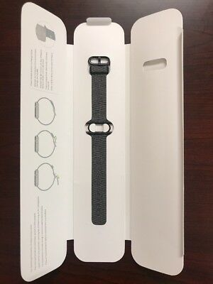 Open-Box Excellent: Apple - Woven Nylon for Apple Watch 38mm - Black