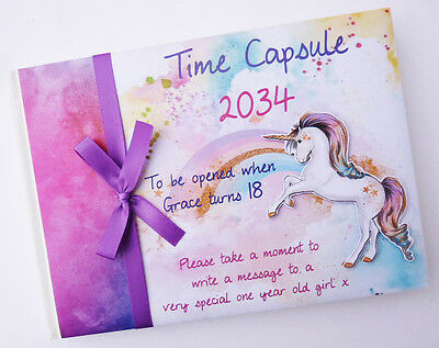 Unicorn Birthday/baby Shower/time Capsule Personalised Guest Book - Any Design