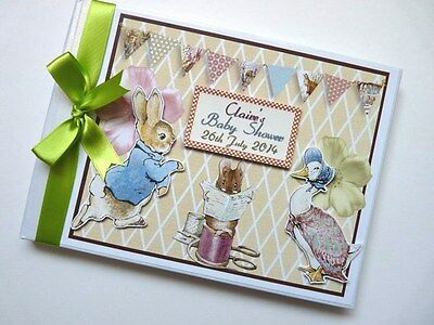Personalised Peter Rabbit Boy/girl /first/1St Birthday Guest Book Any Design