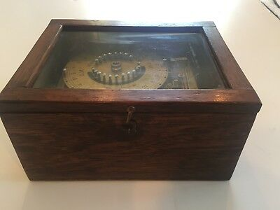 LARGE VINTAGE INDUSTRIAL VENNER METAL TIME SWITCH WOOD BOX 1940/50s STEAMPUNK