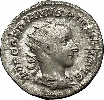 Gordian III 244AD Silver  Ancient Roman Coin Forethought Goddes Cult   i53195