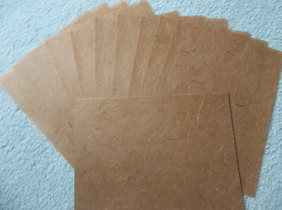 25 Sheets Mulberry / Scrapbook Paper, Great For Cards, Brown