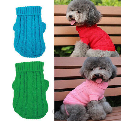New Pet Cat Dog Puppy Warm Knit Coat Clothes Sweater Vest Jacket Apparel Costume