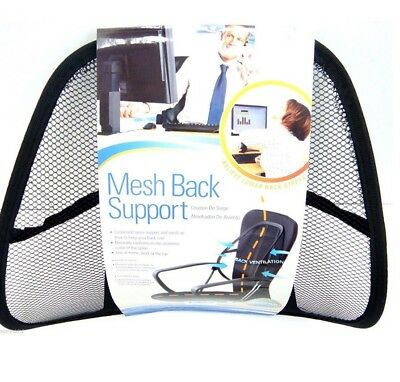 Mesh Back Support Lumbar Lower Back Cushion Pain Relief Car Seat Office Seat UBL