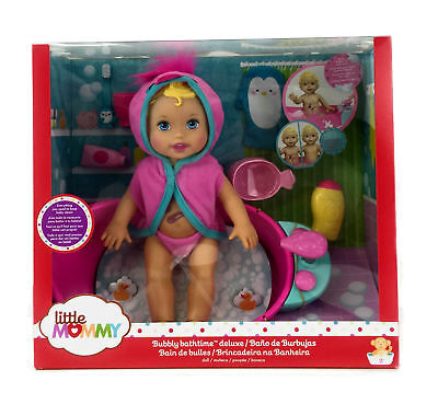 Little Mommy Bubbly Bathtime Baby Girl Doll Deluxe Pretend Play Set Accessories