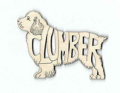 Clumber Spaniel Dog laser cut and engraved wood Magnet