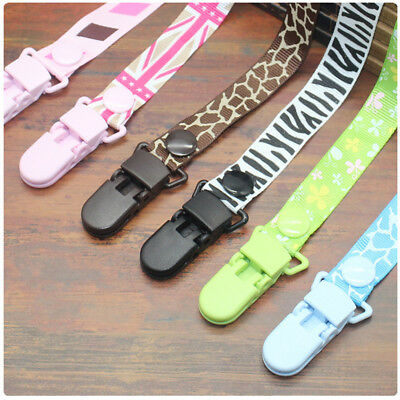 Baby Child Dummy Holder Soother Chain Clips Toddler Kid Feeding Pacifier Holders