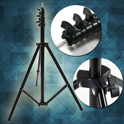 2.4m 8ft Collapsible Set Light Stand Tripod for Photo Studio Video Lighting New.