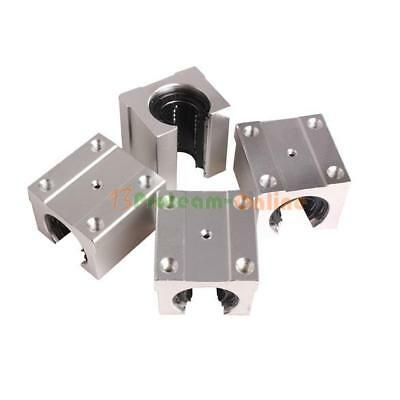 Pack of 4 SBR20UU 20mm Aluminum Open Linear Router Motion Bearing Solide Block