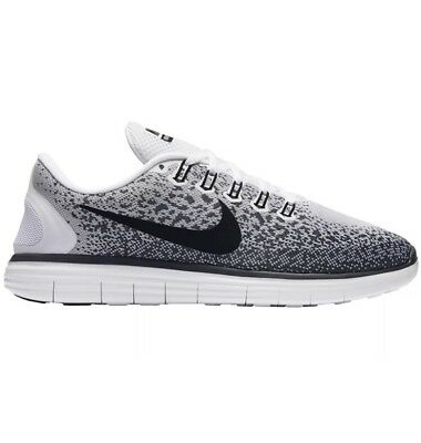 New Nike Free Rn Distance (White/black) - Men's Running Shoes Size 12.5