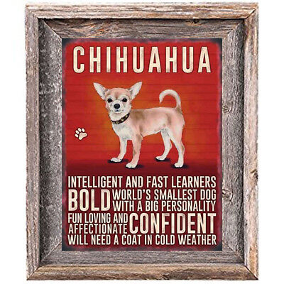 CHIHUAHUA Dog character Quote Art Print 8 x 10 image modern home wall decor